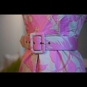 Tropical pink floral dress
